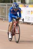 Cyclist no identificado At Le Tour De Langkawi fotografía de archivo libre de regalías