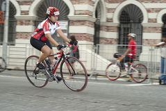 Cyclist in OCBC Cycle Malaysia 2011 Royalty Free Stock Image