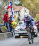 The Cyclist Oliver Naesen - Paris-Nice 2016 Royalty Free Stock Photos