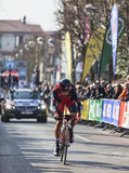 The Cyclist Oss Daniel- Paris Nice 2013 Prologue in Houilles Stock Photography
