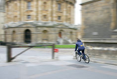 Cyclist in Oxford Stock Images