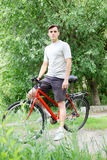 Cyclist in the park Stock Photography