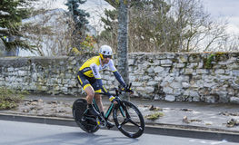 The Cyclist Paul Martens - Paris-Nice 2016 Stock Photos