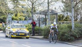 The Cyclist Paul Martens - Paris-Nice 2016 Stock Image