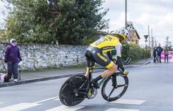 The Cyclist Paul Martens - Paris-Nice 2016 Royalty Free Stock Photos