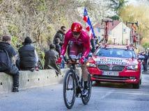 The Cyclist Pavel Kochetkov - Paris-Nice 2016 Royalty Free Stock Photo