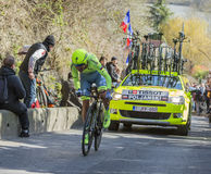 The Cyclist Pawel Poljanski - Paris-Nice 2016 Stock Images