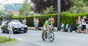 The Cyclist Peter Sagan - Tour de France 2014. Coulounieix-Chamiers, France - July 26, 2014:The Slovak  cyclist Peter Sagan (Cannondale Team) pedaling during the Royalty Free Stock Photo