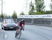 The Cyclist Peter Stetina - Tour de France 2014 Royalty Free Stock Photos
