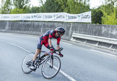 The Cyclist Peter Stetina - Tour de France 2014 Stock Photos