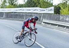 The Cyclist Peter Stetina - Tour de France 2014 Stock Photos
