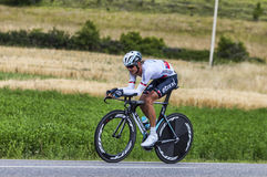 The Cyclist Peter Velits. Chorges, France- July 17, 2013: The  Slovak cyclist Peter Velits from Omega Pharma-Quick Step Team pedaling during the stage 17 of Stock Photos