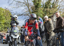 The Cyclist Philippe Gilbert - Paris-Nice 2016. Conflans-Sainte-Honorine,France-March 6,2016: The Belgian cyclist Philippe Gilbert of BMC Racing Team riding Stock Images