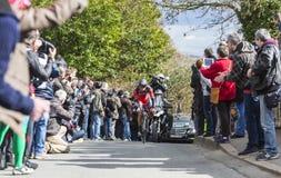 The Cyclist Philippe Gilbert - Paris-Nice 2016 Stock Photos
