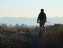 Cyclist in a Phoenix area park, Arizona Stock Photos