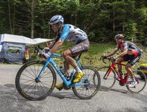 The Cyclist Pierre Latour - Tour de France 2017 royalty free stock image
