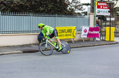 The Cyclist Pierre Rolland - Paris-Nice 2016 Stock Photography