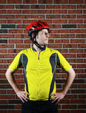 Cyclist Portrait Stock Images