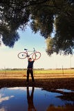 Cyclist Portrait Stock Photography