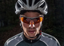 Cyclist portrait Stock Photography