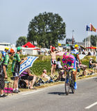 The Cyclist Przemyslaw Niemiec. Le Pont Landais,France-July 10, 2013: The Polish cyclist Przemyslaw Niemiec from Lampre-Merida Team cycling during the stage 11 Stock Photography