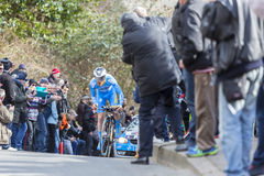 The Cyclist Quentin Pacher - Paris-Nice 2016 Royalty Free Stock Photo
