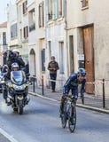 The Cyclist Quintana Rojas Nairo Alexander- Paris Nice 2013 Prol. Houilles, France- March 3rd 2013: The Colombian cyclist Quintana Rojas Nairo Alexander from Royalty Free Stock Photo