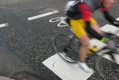 Cyclist race royalty free stock image