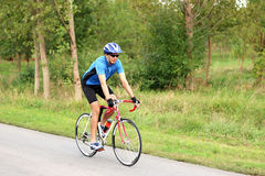 Cyclist on a race bike Royalty Free Stock Photos