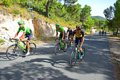 Racing Up A Hill La Vuelta España Royalty Free Stock Photos