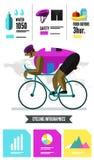 Cyclist racing infographics. Stock Photography
