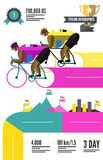 Cyclist racing infographics. Royalty Free Stock Photography