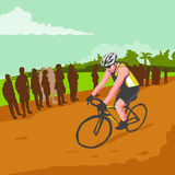 Cyclist Racing WPA Royalty Free Stock Photography
