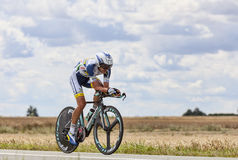 The Cyclist Rafael Valls Ferri Stock Image