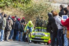 The Cyclist Rafal Majka - Paris-Nice 2016 Stock Photo