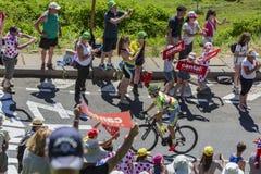 The Cyclist Rafal Majka - Tour de France 2016 Royalty Free Stock Photo