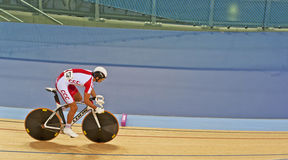 Cyclist Rafal Ratajczyk from Poland stock photography