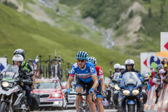 The Cyclist Ramunas Navardauskas on Col du Lautaret - Tour de Fr Stock Image