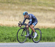 The Cyclist Richie Porte. Chorges, France- July 17, 2013: The Australian cyclist Richie Porte from Team Sky pedaling during the stage 17 of 100th edition of Le Stock Photo