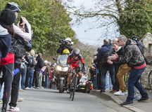 The Cyclist Richie Porte - Paris-Nice 2016 Stock Photos