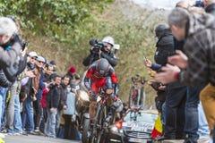 The Cyclist Richie Porte - Paris-Nice 2016 Stock Image