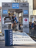 The Cyclist Rick Flens- Paris Nice 2013 Prologue in Houilles Stock Image