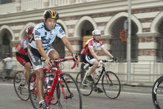 Cyclist Ride in OCBC Cycle Malaysia 2011 Stock Photo
