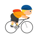 Cyclist rides a bicycle Royalty Free Stock Photo