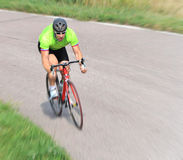 Cyclist riding a bicycle Royalty Free Stock Image