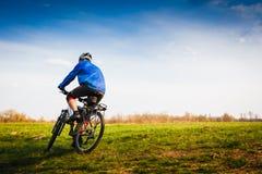 Cyclist Riding the Bike Royalty Free Stock Photos