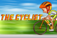 Cyclist riding bike on the road Royalty Free Stock Photography