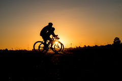 Cyclist riding Bike Royalty Free Stock Photography