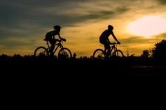 Cyclist riding Bike Royalty Free Stock Image