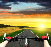 Cyclist riding a bike Stock Photography